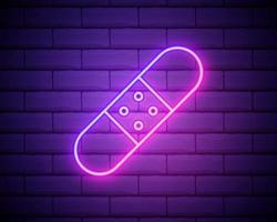 geneeskunde verband lijn pictogram. elementen van de geneeskunde in neon stijliconen. eenvoudig pictogram voor websites, webdesign, mobiele app, info graphics geïsoleerd op bakstenen muur