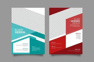geometrische twee regeling flyer ontwerpsjabloon