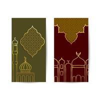 het uitzicht op de moskee 's nachts voor de islamitische heilige maand ramadan. islamitische achtergrond banner