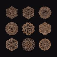 mandala collectie vectorillustratie vector