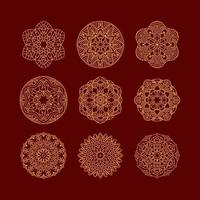 mandala set. vintage decoratieve elementen. hand getekende achtergrond. islamitische, arabische, indische, ottomaanse motieven.