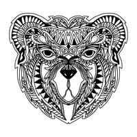 zentangle bear vector