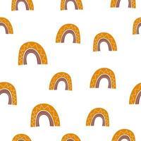 schattige naadloze vector patroon Scandinavische achtergrond illustratie met handgemaakte regenbogen en polka dot elementen voor ontwerp en baby- en kinderproducten