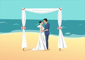 Strand bruiloft vectorillustratie vector