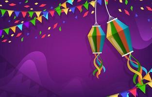 kleurrijke festa junina achtergrond vector