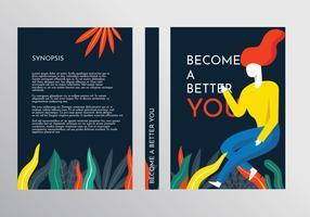 Motiverende boek Cover sjabloon Vector