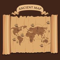 Oude kaart Vector