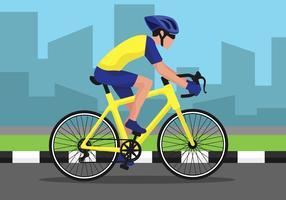 Rijden op een fiets Illustratie vector