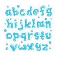 Water alfabet vector