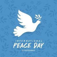 21 september, internationale vredesdag vector