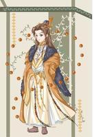 ontwerpkarakter van een koning-keizer van een oud koninkrijk vector