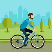 Rijden op een fiets Vector