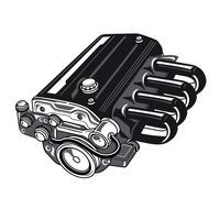 Auto 4 cilindermotor vector