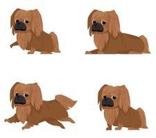 pekingese in verschillende poses. vector
