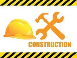 bouwnijverheid en hulpmiddelen, vectorontwerp.