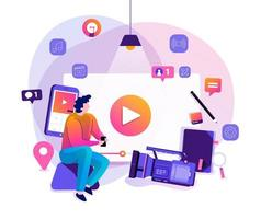 vlog-videomarketing vector