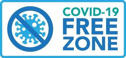 Covid vrije zone teken vector