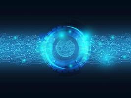 abstracte blauwe technologie achtergrondgegevensoverdracht met circuit