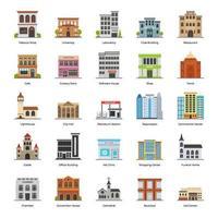 stadsgebouwen buitenkant vector