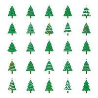decoratieve kerstbomen vector