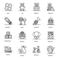 kindertijd, plezier, spelen en speelgoed vector