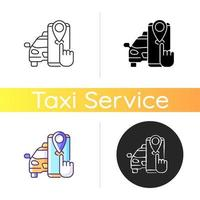 taxi tracker pictogram