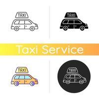minibus taxi's pictogram vector
