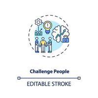 uitdaging mensen concept pictogram vector