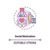 sociale motivatie concept pictogram vector