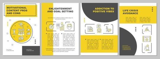 motiverende inhoud voors en tegens brochure sjabloon