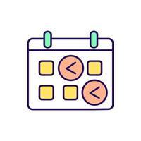 eetplan RGB-kleur pictogram