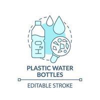 plastic waterflessen concept pictogram vector