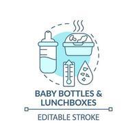 babyflessen en lunchboxen concept pictogram