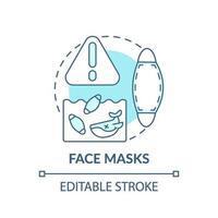 gezichtsmaskers concept pictogram vector