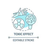 giftig effect concept pictogram vector
