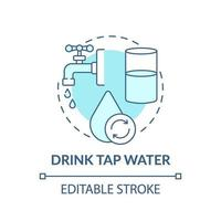 drink kraanwater concept pictogram vector