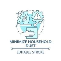 minimaliseren van huishoudelijke stof concept pictogram vector