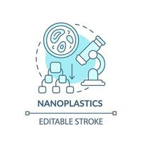 nanoplastics concept pictogram