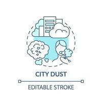 stad stof concept pictogram. idee dunne lijn illustratie vector