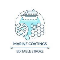 mariene coatings concept pictogram. vector