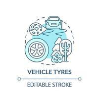 voertuig banden concept pictogram vector