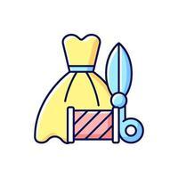 bruiloft en prom jurk wijzigingen RGB-kleur pictogram vector