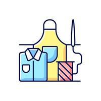 werkkleding reparatie RGB-kleur pictogram
