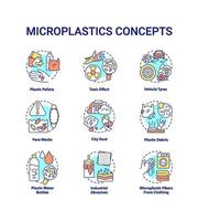microplastics concept pictogrammen instellen