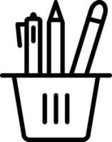 lijn pictogram voor briefpapier