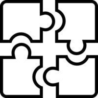 lijn pictogram voor puzzel vector