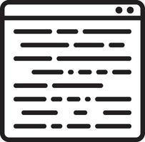 lijn pictogram voor programma