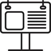 lijn pictogram voor billboard vector