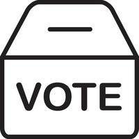 lijn pictogram voor polling