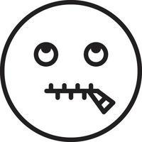 lijn pictogram voor sprakeloos